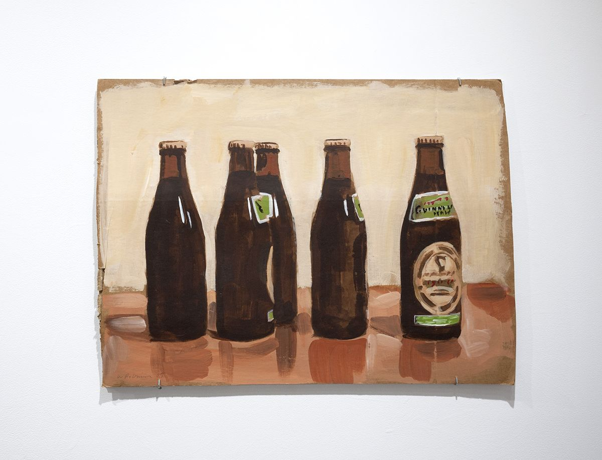 Walter Robinson beer bottles painting