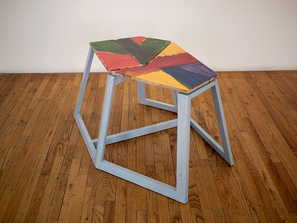 Björn Meyer-Ebrecht Untitled (Platform 3), 2018 Wood, plywood, acrylic paint, acrylic  polyurethane and screws