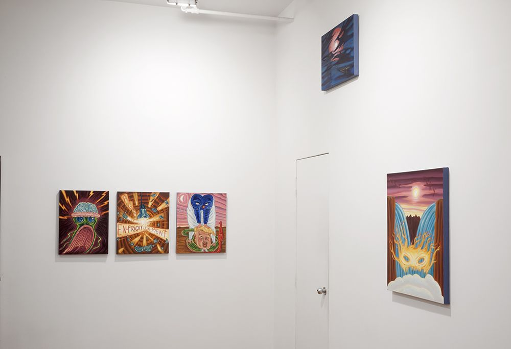 small david sandlin paintings installed