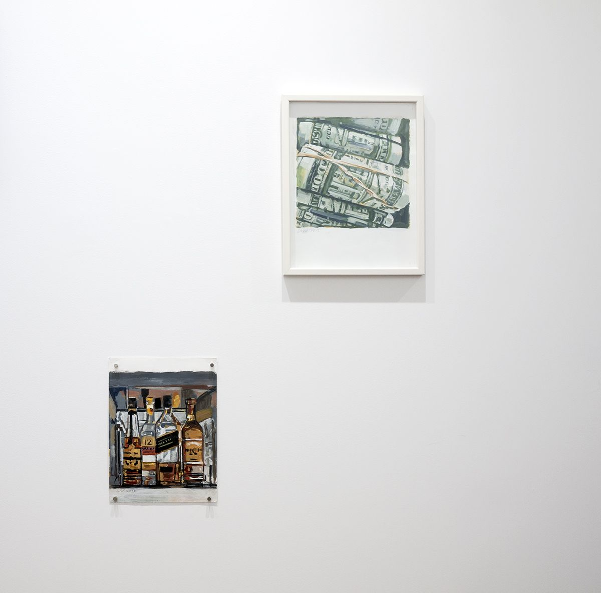 Walter Robinson money and booze paintings