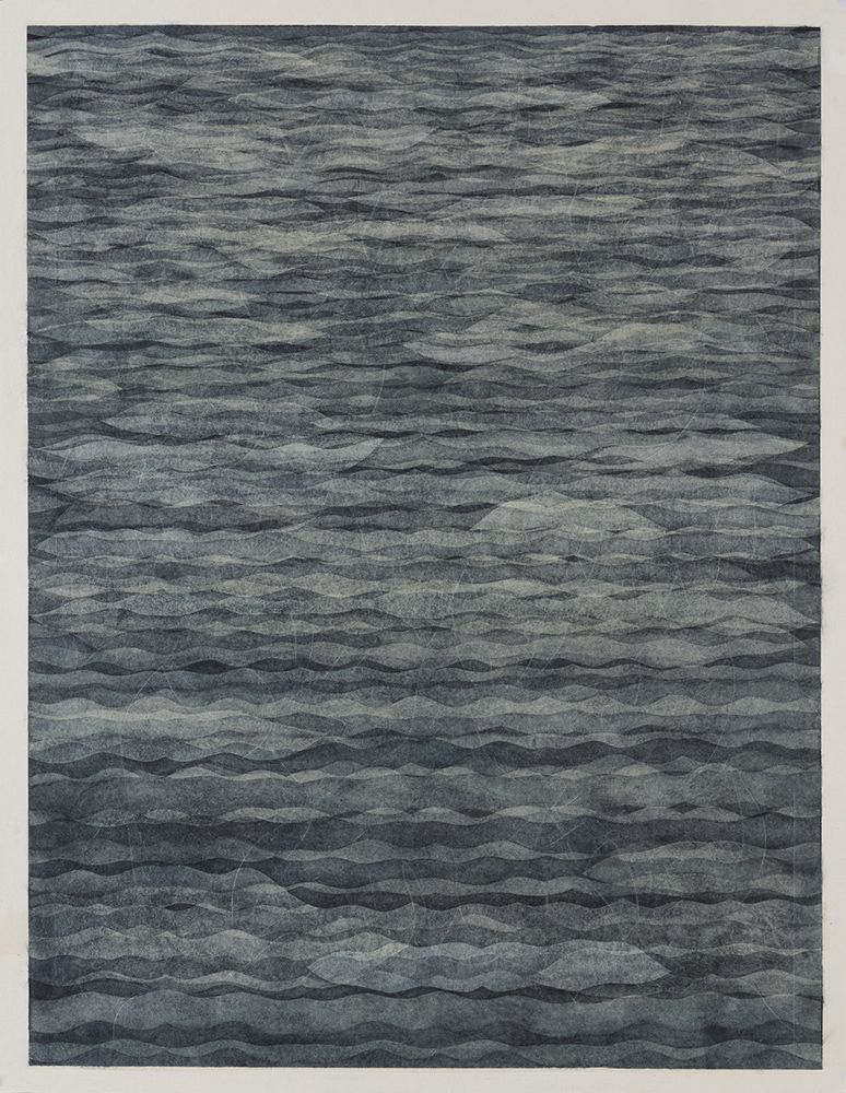 Takuji Hamanaka Echo, 2012 Japanese woodcut with Gampi paper collage 31 3/4 x 24 3/4 in. / 80.6 x 62.9 cm.