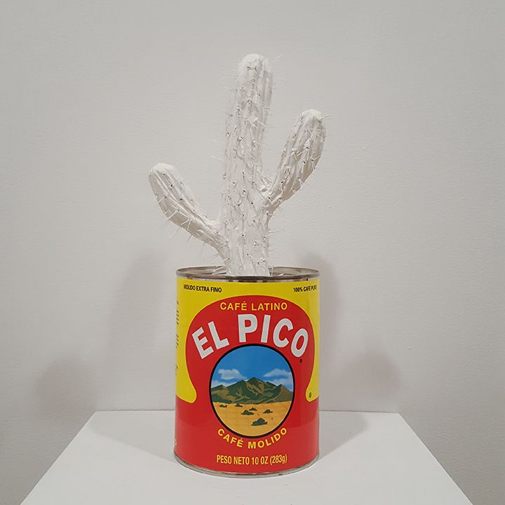 mark mann El Pico Cactus (Mt. Tobias), 2016 Plaster and metal can 10 x 5 x 5 inches Edition of 4