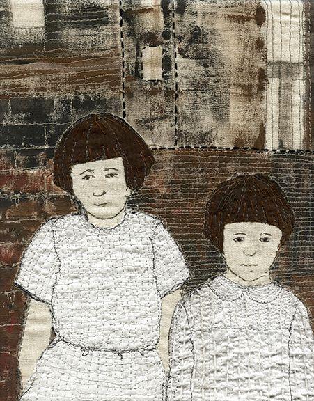 Sue Stone Remember Me Study #7, 2014 Mixed media, hand/machine stitch acrylic paint 10 ¼ x 8 ⅜ in. / 26 x 21 cm.