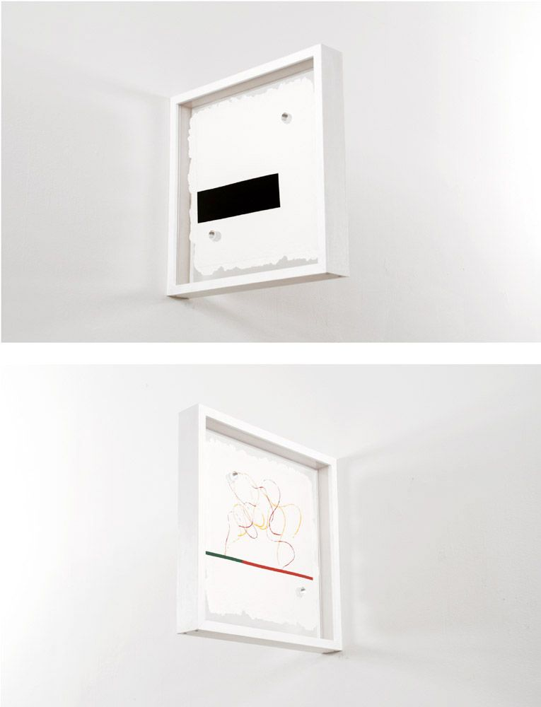 Richard Tuttle Fluidity of Projection, 2008 Double-sided screenprint on handmade paper, with die-cut and deckle edges in a wall- mountable frame 15 x 15 1⁄4 x 2 1⁄8 in. / 38.1 x 38.7 x 5.3 cm. Edition of 30