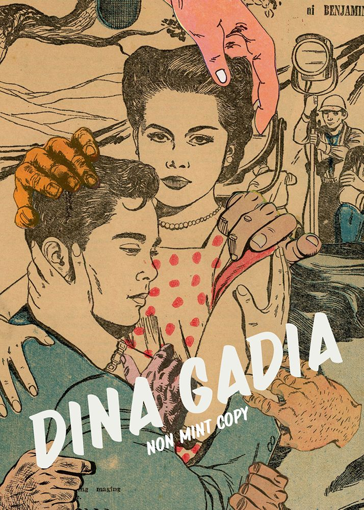 Dina Gadia paper collage postcard image