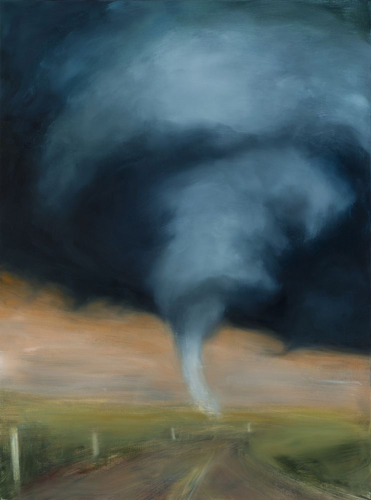 karen marston Tornado #9, 2015 Oil on linen 48 x 36 in. / 121.9 x 91.4 cm.