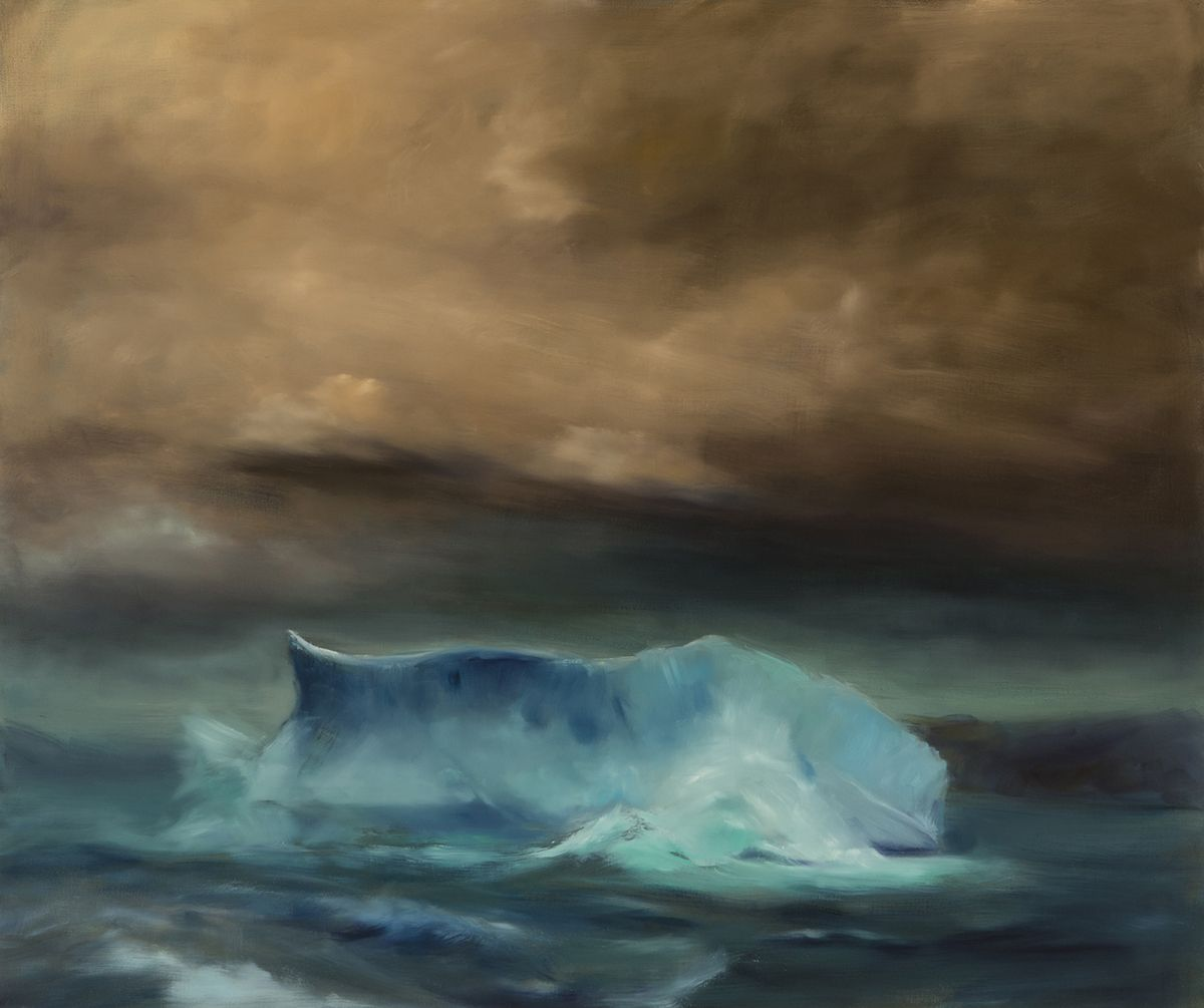Karen Marston Iceberg In Rough Sea, 2017 Oil on linen 62 x 52 inches
