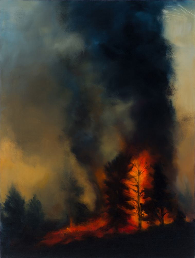 Karen Marston Ring of Fire, 2016 Oil on linen 48 x 36 in. / 121.9 x 91.4 cm.