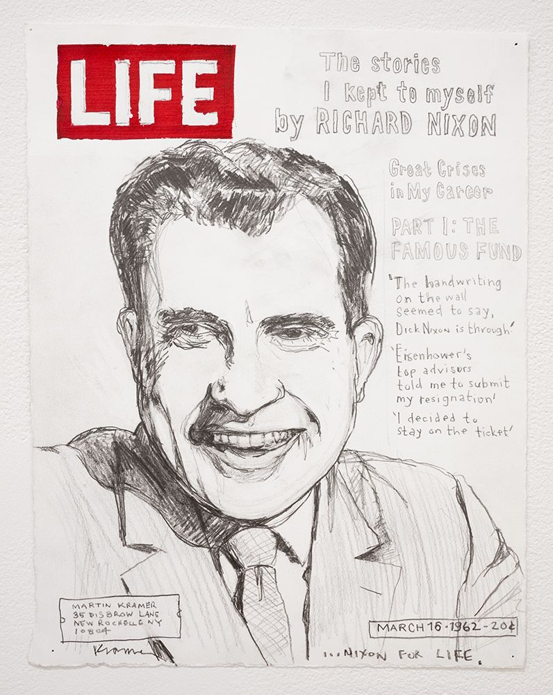 david kramer, drawing of richard nixon on life magazine cover