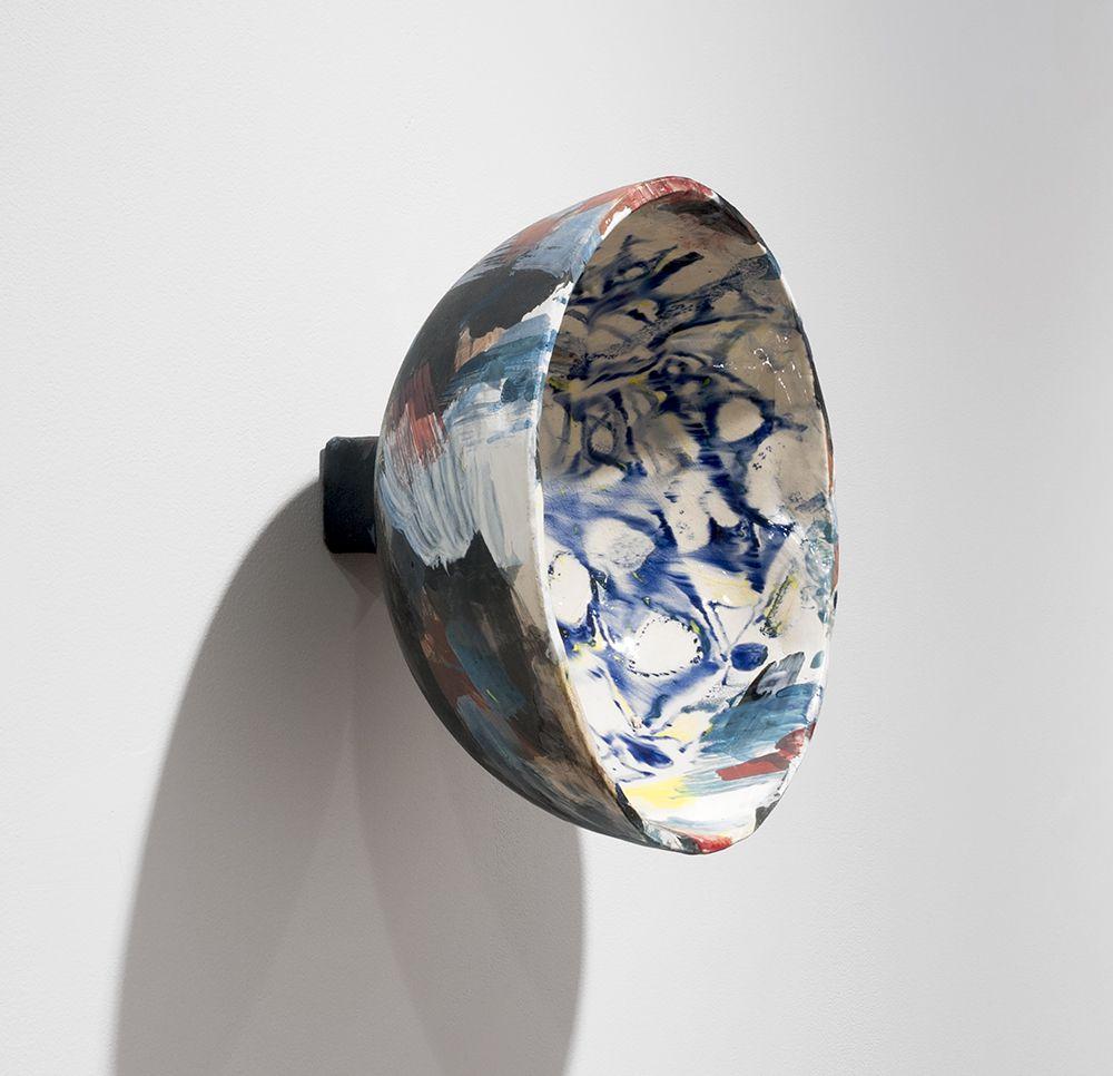 Rachael Gorchov Oculus, 2016 Glazed ceramic 9 1/4 x 9 1/4 x 6 1/4 in. / 23.5 x 23.5 x 15.9 cm.