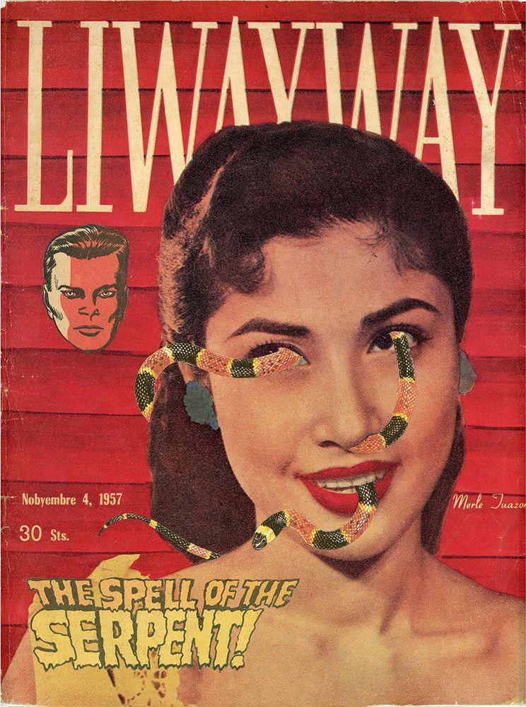 Dina Gadia Liwayway (Flattering Portrait of '57), 2015 Collage 11 3/8 x 8 7/8 in. / 29 x 22 cm.