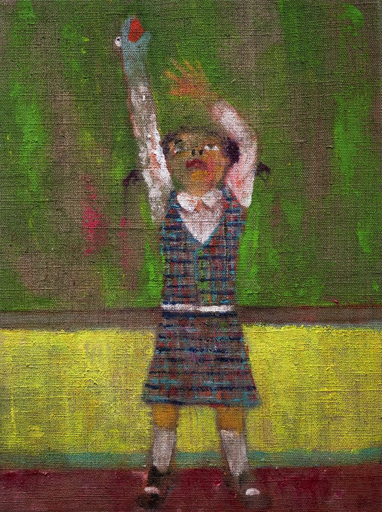 Danny Licul ​Sock Puppet Presentation (#27), 2013 Acrylic and oil on canvas