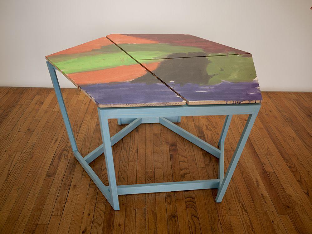 Björn Meyer-Ebrecht Untitled (Platform 5), 2019 Wood, plywood, acrylic paint, acrylic  polyurethane and screws