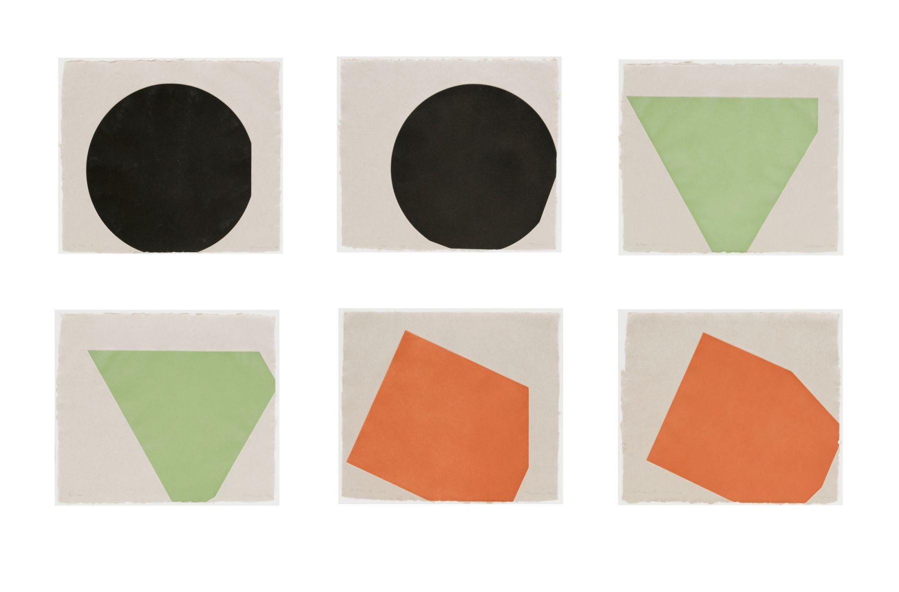 Gary Stephan If - Then, 1974-75 Suite of six aquatints on Handmade paper 19 1⁄2 x 25 1⁄2 in. / 49.5 x 64.8 cm. each Edition of 50