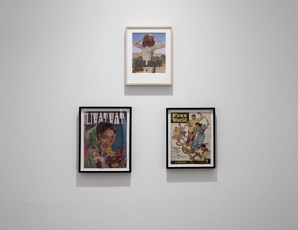 Dina Gadia paper collage installation view