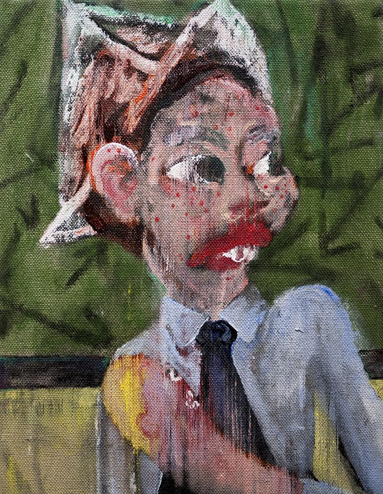 Danny Licul ​Sock Puppet Presentation (#3), 2012 Acrylic and oil on canvas
