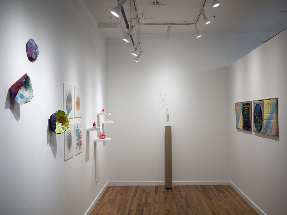 Rachael Gorchov, Richard Tuttle, Franz West, Alan Shields and Chiaozza installation view