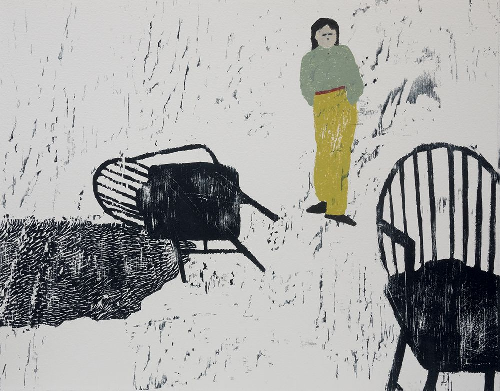Elin Rodseth Resident I, 2015 Woodcut and monotype  on Hanemuhle paper