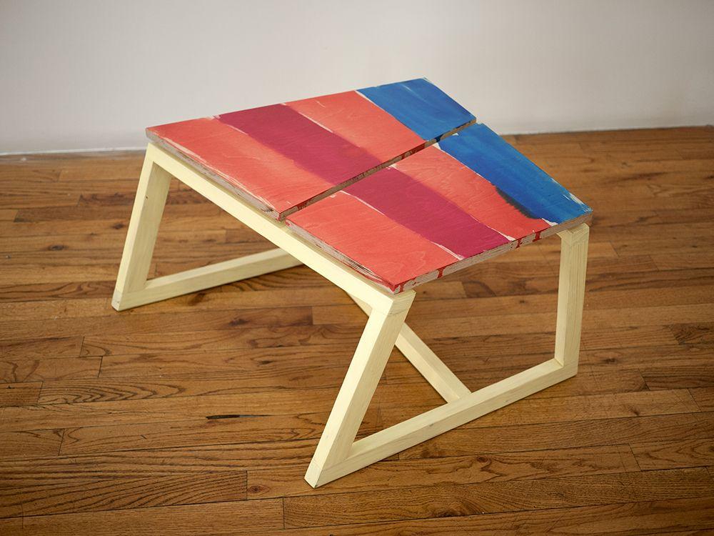 Björn Meyer-Ebrecht Untitled (Platform 2), 2018 Wood, plywood, acrylic paint, acrylic  polyurethane and screws
