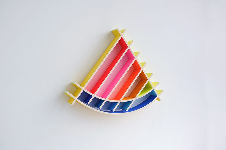 chiaozza Sun Slice, 2017 Acrylic on wood 14 x 16 x 2 in. / 35.6 x 40.6 x 5.1 cm.