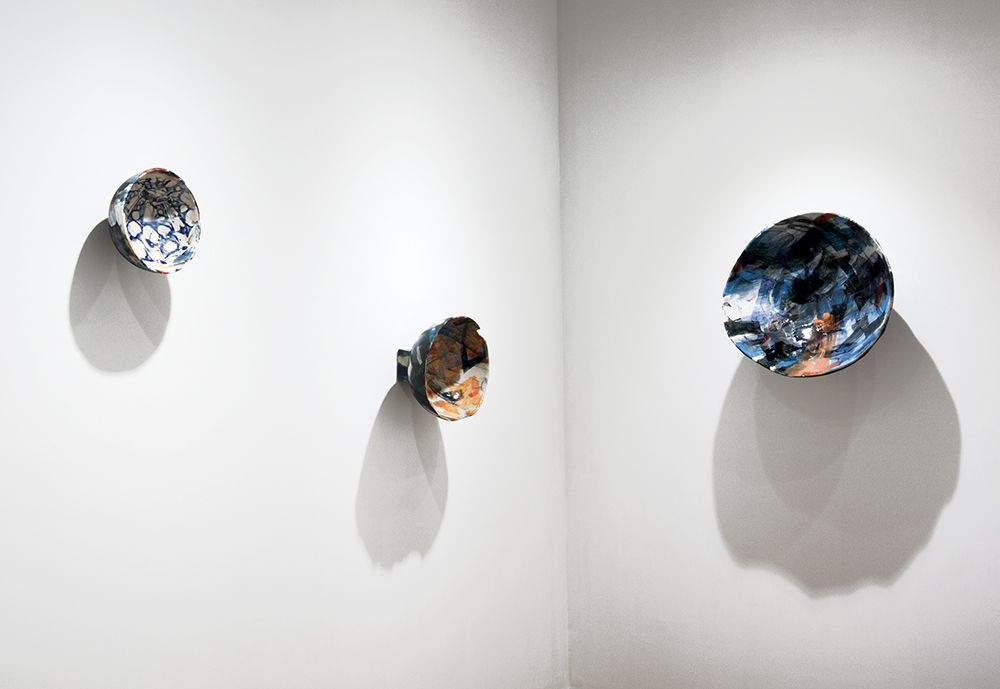 Rachael Gorchov installation of ceramic sculptures