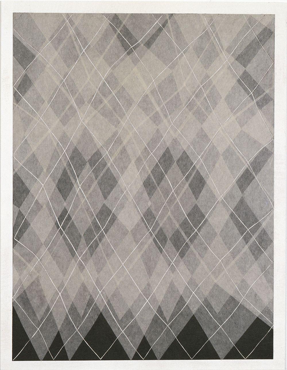 Takuji Hamanaka Argyle, 2008 Japanese woodcut with Gampi paper collage 12 1/4 x 10 in. / 31.1 x 25.4 cm.