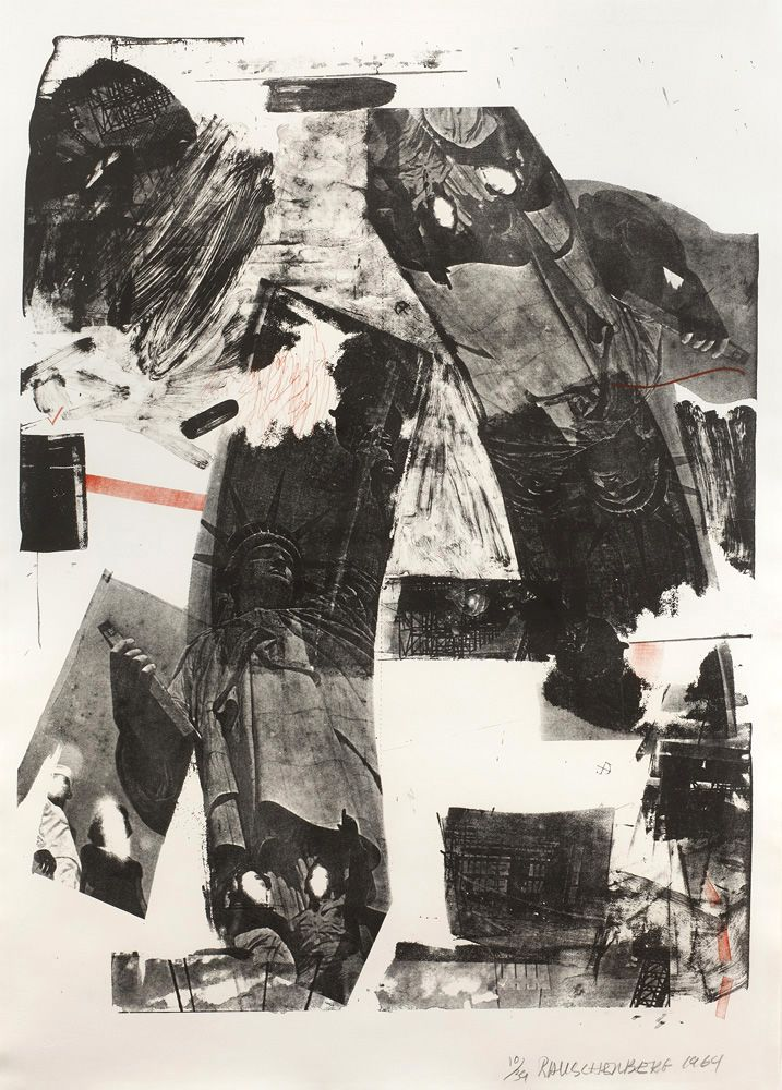 Robert Rauschenberg Front Roll, 1964 Lithograph 41 1⁄2 x 29 3⁄4 in. / 105.4 x 75.6 cm. Edition of 39