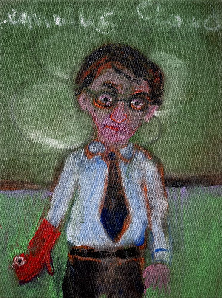 Danny Licul Sock Puppet Presentation (#14), 2012 Acrylic and oil on canvas 12 x 9 in. / 30.5 x 22.9 cm.