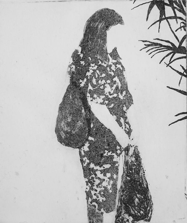 Elin Rødseth Networker (No. 4), 2018 Photopolymer 4 3/4 x 3 3/4 in. / 12.1 x 9.5 cm. Edition of 25