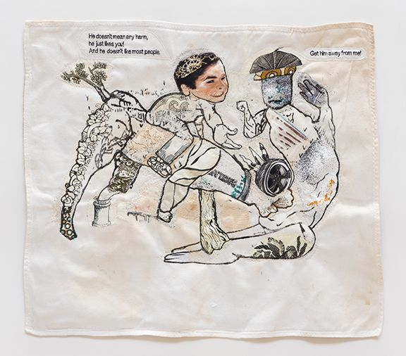 China Marks The Surrogate, 2017 Fabric, thread, screen-printing ink, fusible adhesive