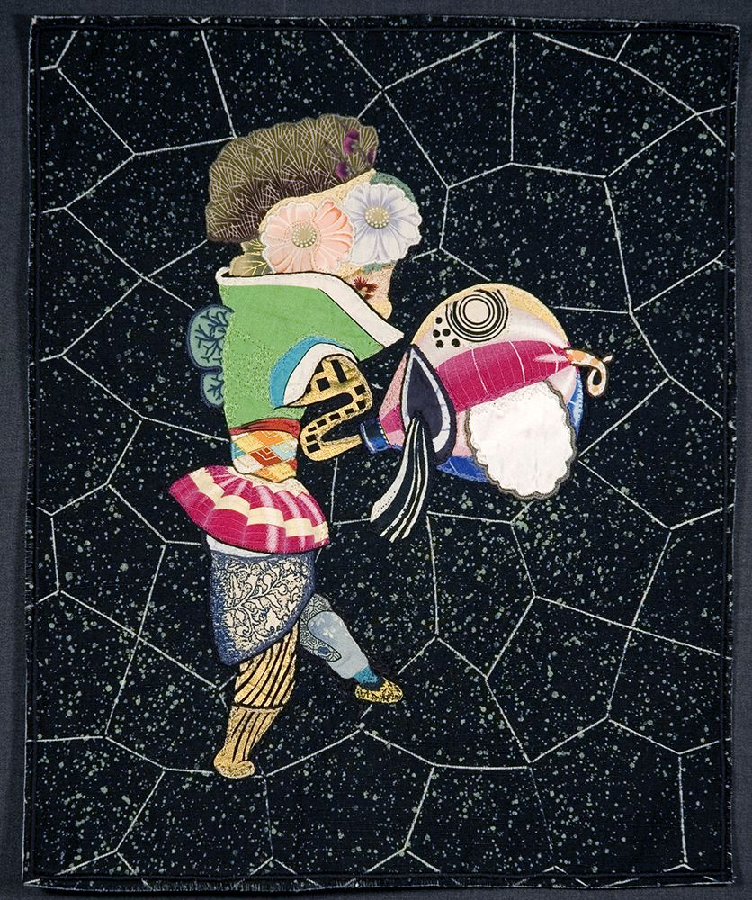 China Marks Lost In Space, 2006 Fabric, thread and fusible adhesive 16 x 13 in. / 40.6 x 33 cm.