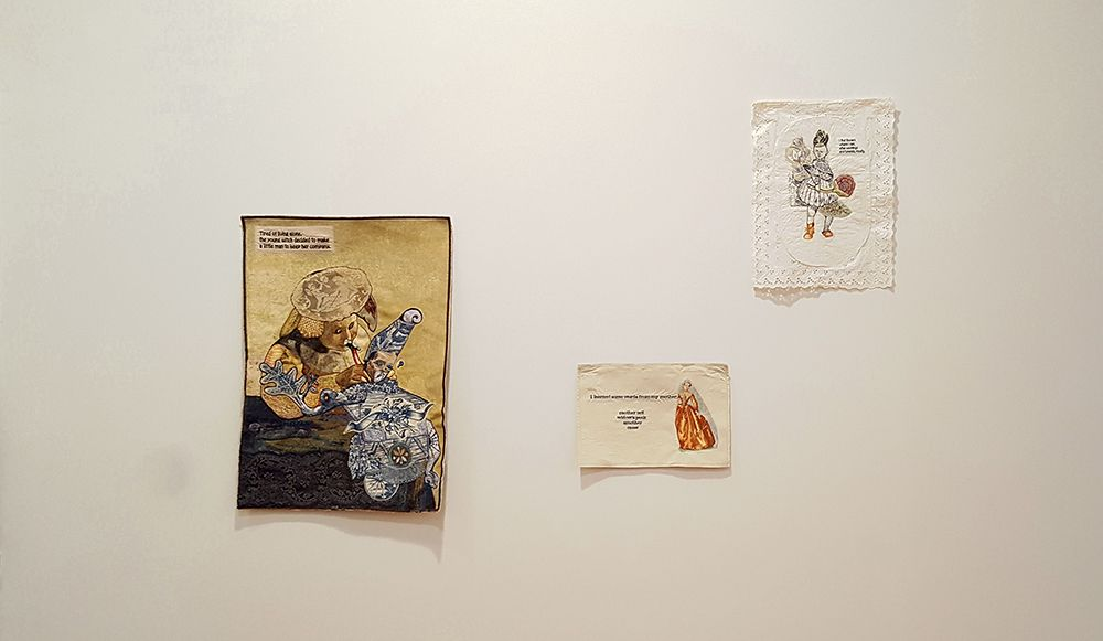 china marks 3 fabric collages