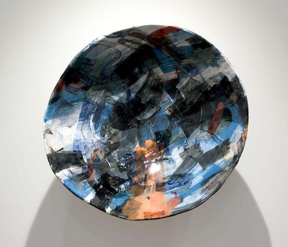 Rachael Gorchov Oculus (ii), 2017 Glazed ceramic 20 1/2 x 21 x 11 1/2 in. / 52.1 x 53.3 x 29.2 cm.