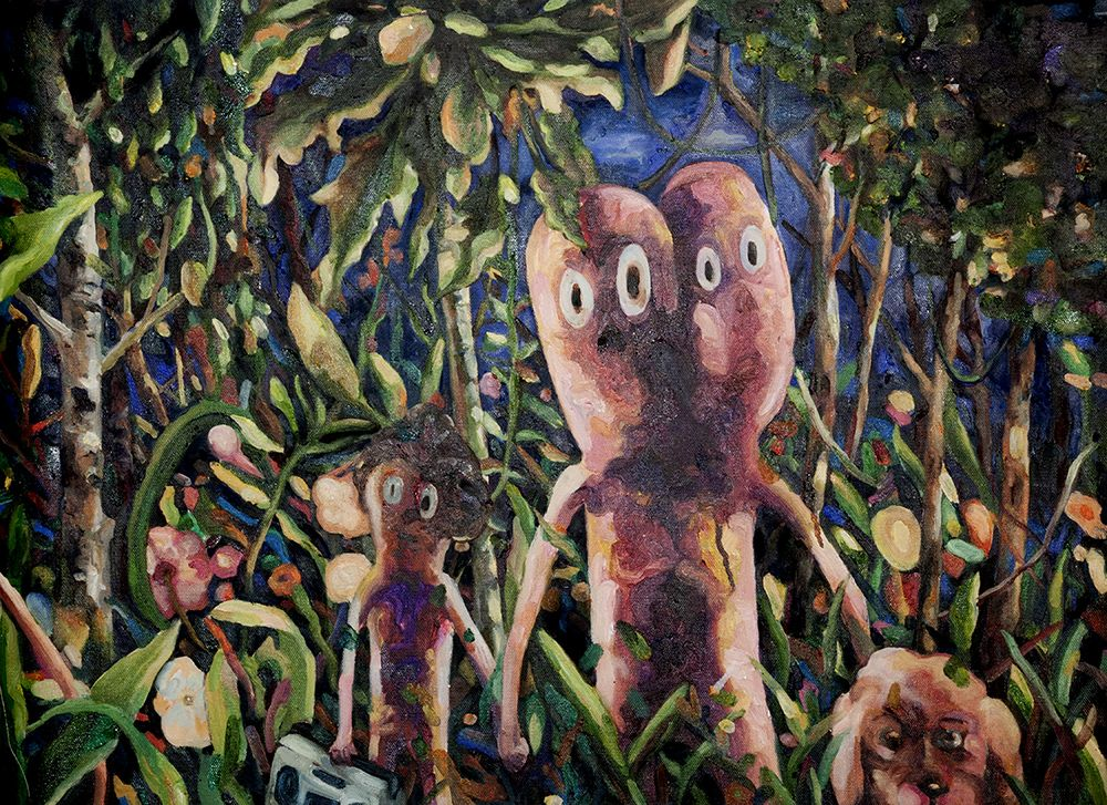 Mariano Ching, There are Things in the Woods, painting series, 2016