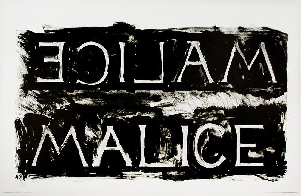 Bruce Nauman Malice, 1980 Lithograph