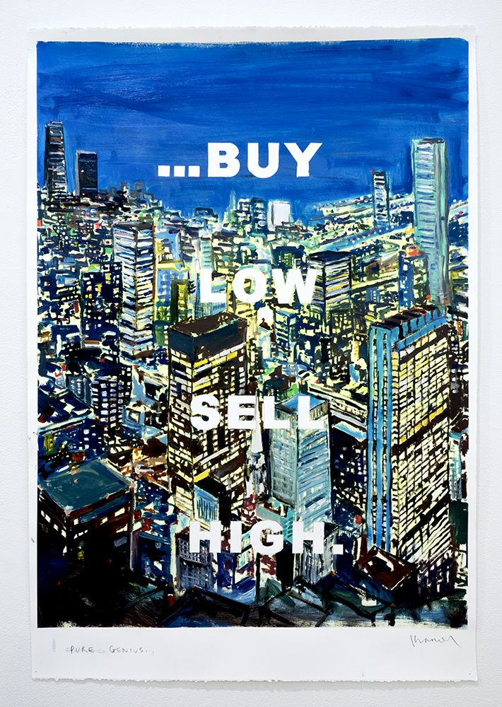 David Kramer, drawing text reads buy low sell high