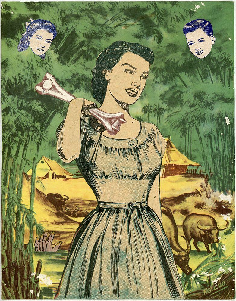 Dina Gadia Antiquated Ideals, 2015 Collage 10 1/2 x 8 1/8 in. / 26.6 x 20.8 cm.