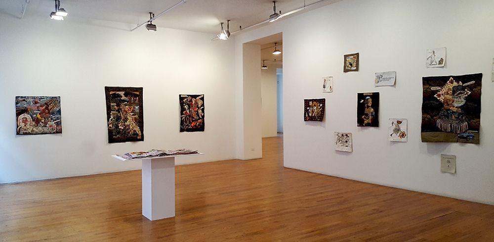 china marks art exhibition installation view