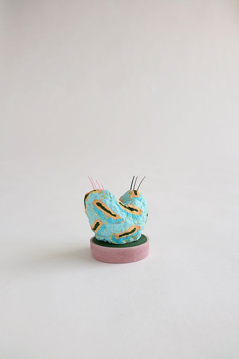 Chiaozza Wigglety, 2016 Painted paper, paper pulp, acrylic paint and pigmented concrete