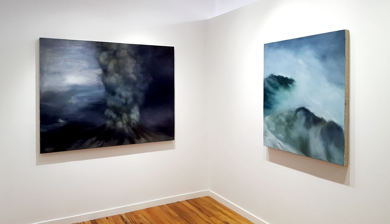 karen marston natural disasters paintings installation