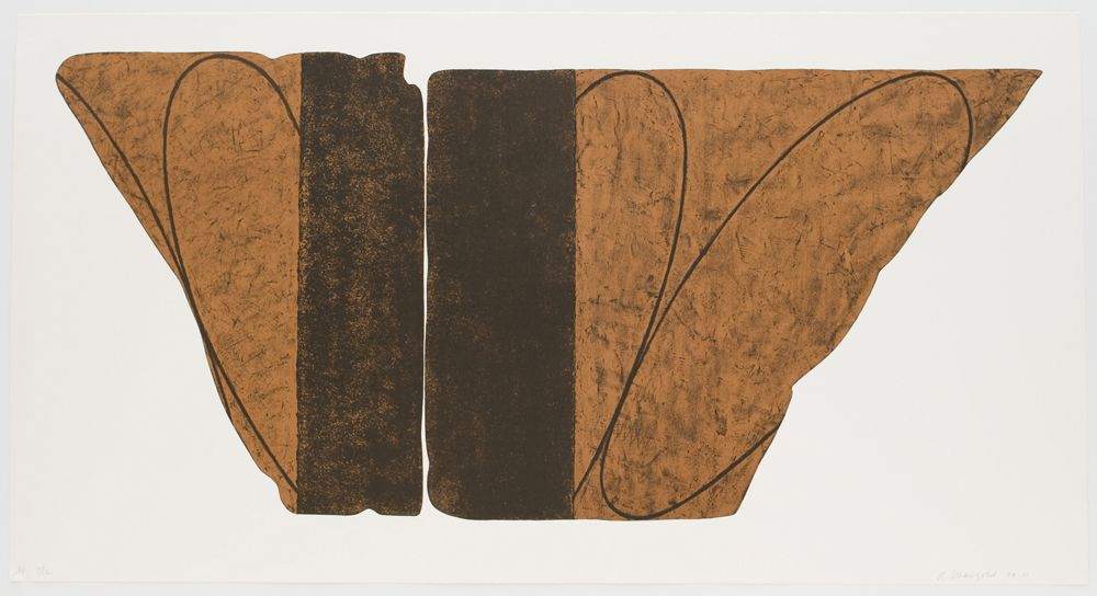 Robert Mangold Fragment VIII, 2000 Color lithograph 36 1⁄2 x 70 in. / 92.7 x 177.8 cm. Edition of 48