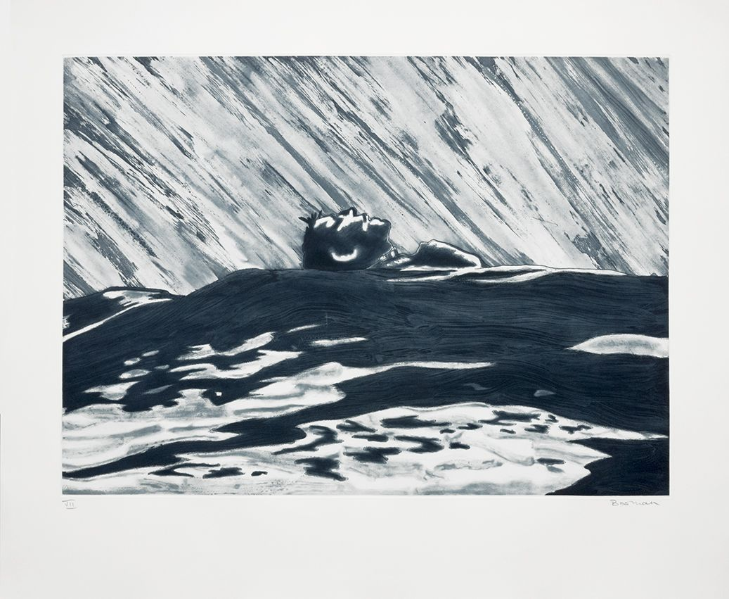 Richard Bosman ​Adrift I, 1988 Softground, spitbite and whiteground etching