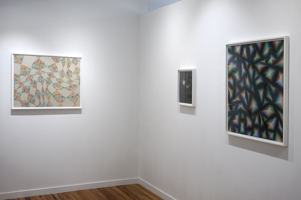 takuji hamanaka installation of japanese woodcut and paper collages