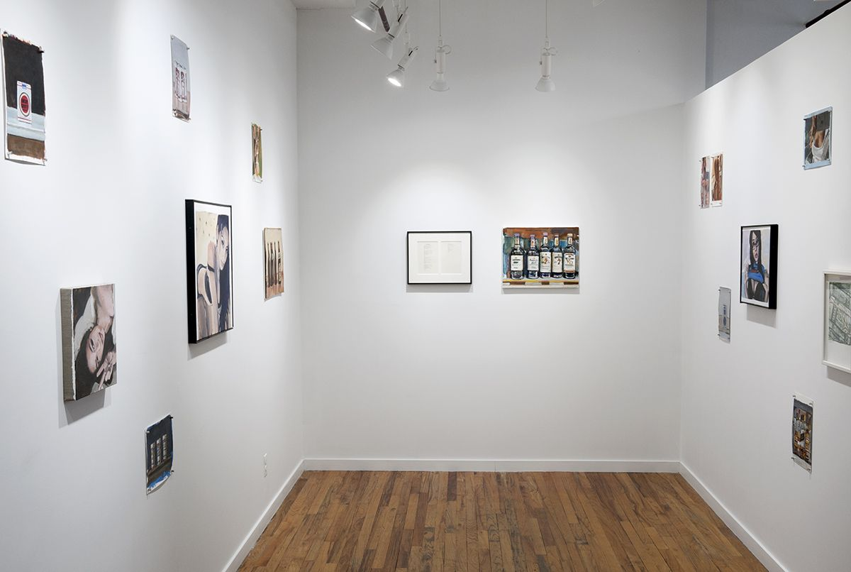 Charles Bukowski and Walter Robinson installation views