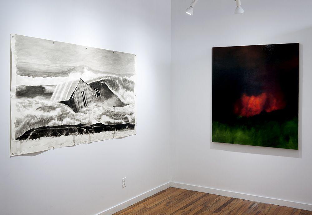 Colleen Blackard and Karen Marston installation