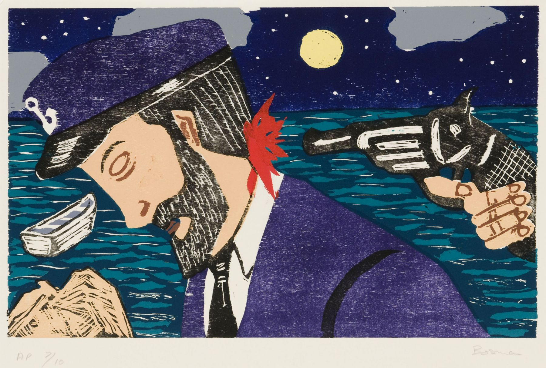 Richard Bosman ​Mutiny, 1980-81 Woodcut