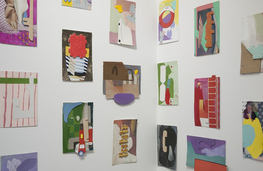 yasmin sison postcard collages installed