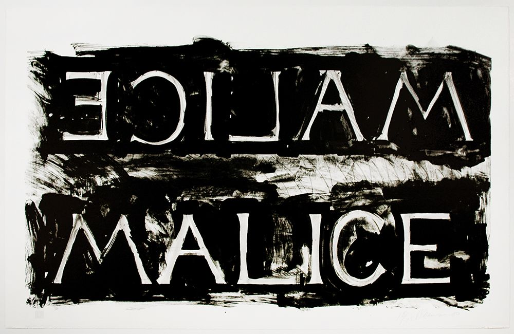 Bruce Nauman Malice, 1980 Lithograph 29 1/2 x 41 1/2 in. / 74.9 x 105.4 cm. Edition of 75