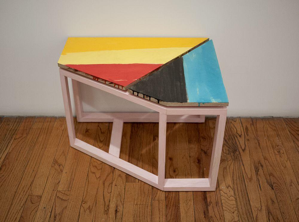 Björn Meyer-Ebrecht Untitled (Platform 1), 2018, acrylic paint on wood
