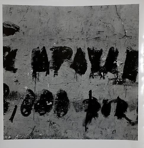 AARON SISKIND  Lima '74 (Homage to Franz Kline) 1975